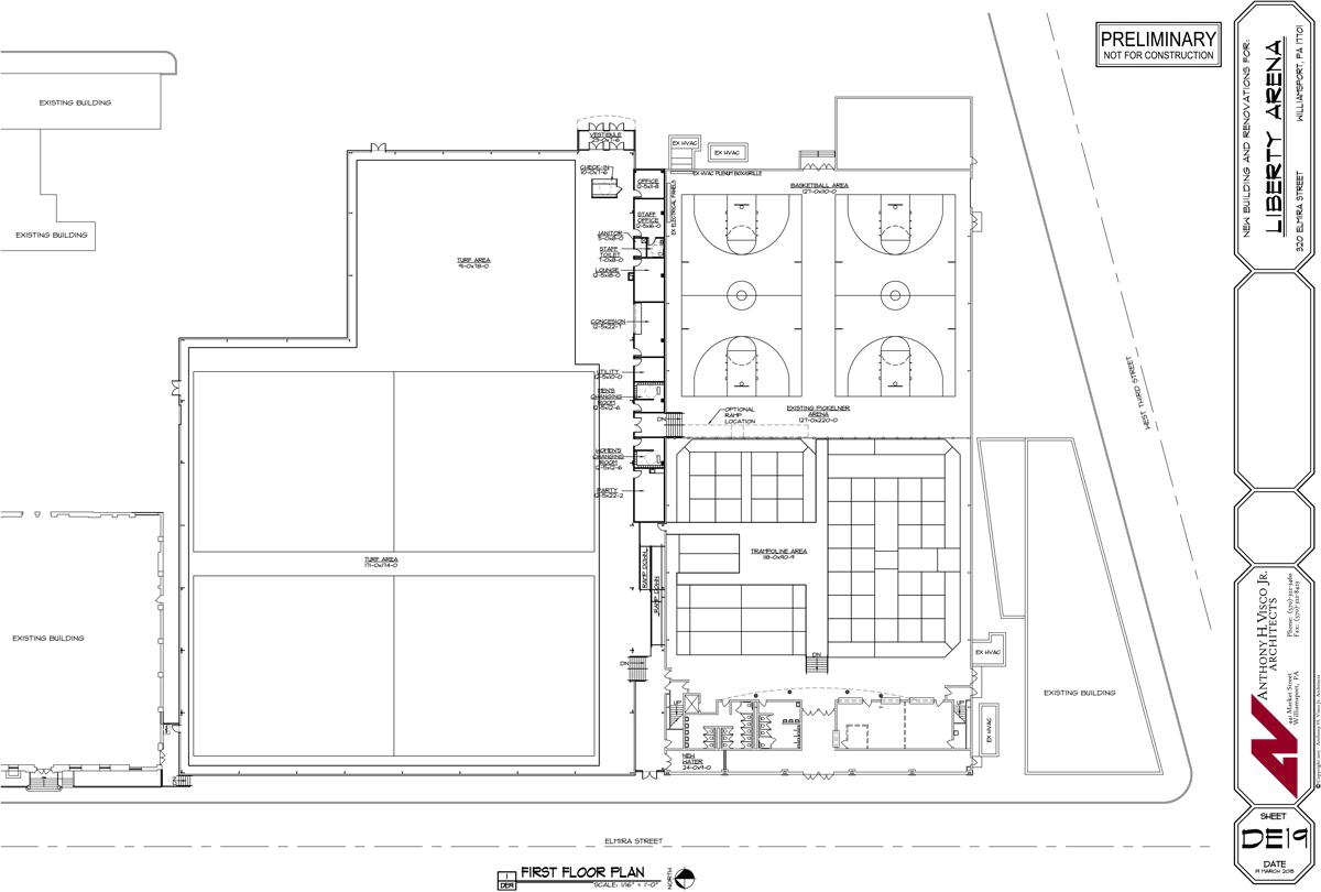 Liberty Arena Facility layout